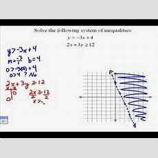 A1712 Solving Systems Of Linear Inequalities Youtube