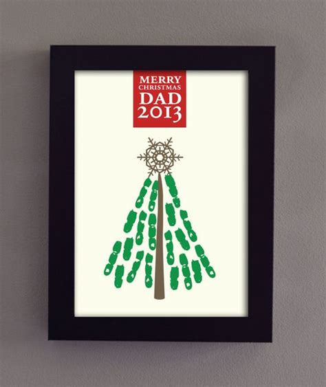 kids christmas tree craft for dad printable 2013