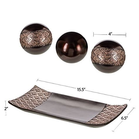 Dublin Decorative Tray and Orbs/Balls Set of 3