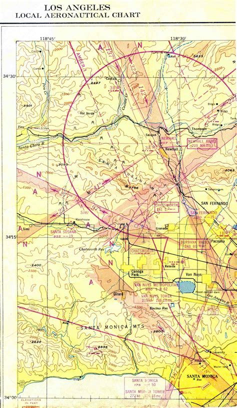 saugus map newhall scvhistory california 1946 airport history angeles los