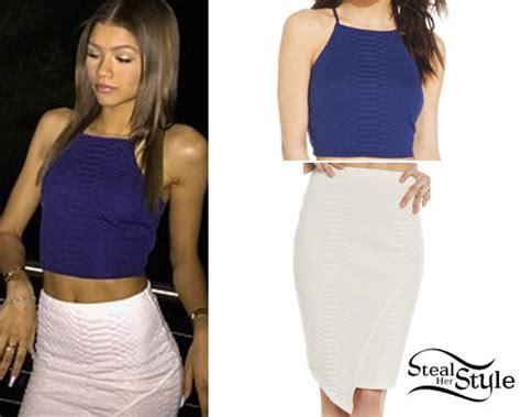 Zendaya: Crop Top & Skirt Sets   Steal Her Style