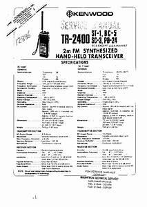 Kenwood -- Tr-2400 Sc-3