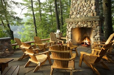 bringing rustic appeal   outdoor home