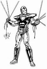 Iron Ironman Coloring Pages Fun sketch template