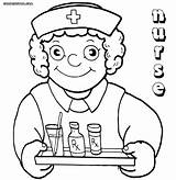 Nurse Coloring Pages Medication Drawing Funny Hat Colorings Getdrawings sketch template