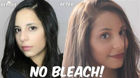 Diy Lighten Dark Hair Without Added Bleach At Home