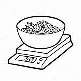 Kitchen Strawberries Scales Scale Colorare Coloring Kolorowanka Kolorowania Bilancia Ausmalen Fototapeta Zum Cucina Termometr Vektor Truskawki Wagi Kuchenne Balance Kolorowanki sketch template