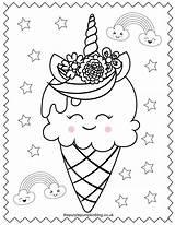 Coloring Ice Cream Unicorn Printable Sweet Ausmalbilder Kawaii Colouring Malvorlagen Dibujos Colorear Sheets Shopkins Eis Coloriage Cake Thepurplepumpkinblog Malbuch Printables sketch template