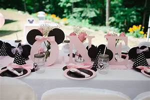 Light Pink Minnie Mouse First Birthday Party