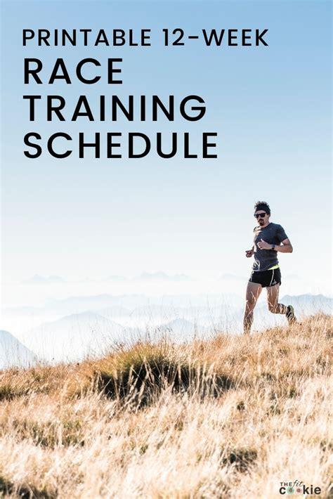 week blank printable race training schedule  fit