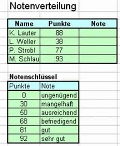 Note Berechnen Formel : verweisfunktionen ~ Themetempest.com Abrechnung