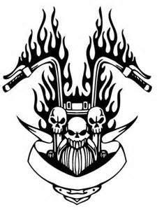 stencils tattoo design davidson stencil biker designs