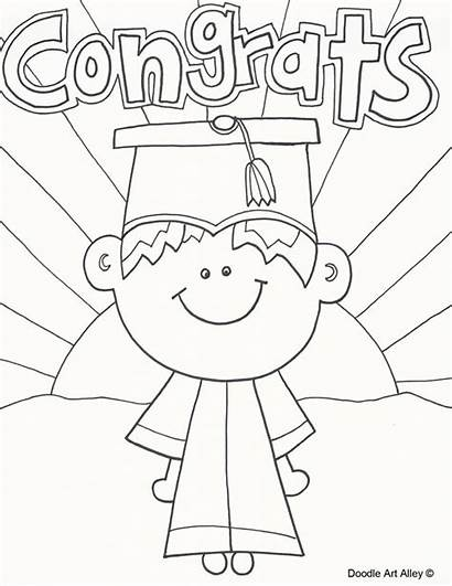 Graduation Coloring Doodle Kindergarten Preschool Alley Classroom