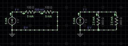 Parallel Voltage Circuit Current Resistance Resistors Connected