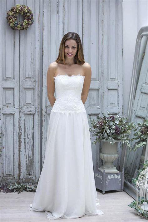 vestidos de novia simple beach wedding dress  chiffon