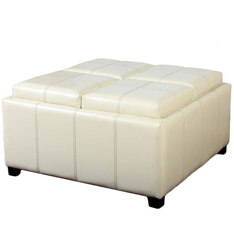cube ottoman with tray storage ottoman cube with tray images