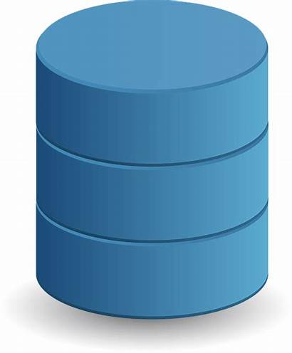 Database Cylinder Clipart Data Table Storage Between