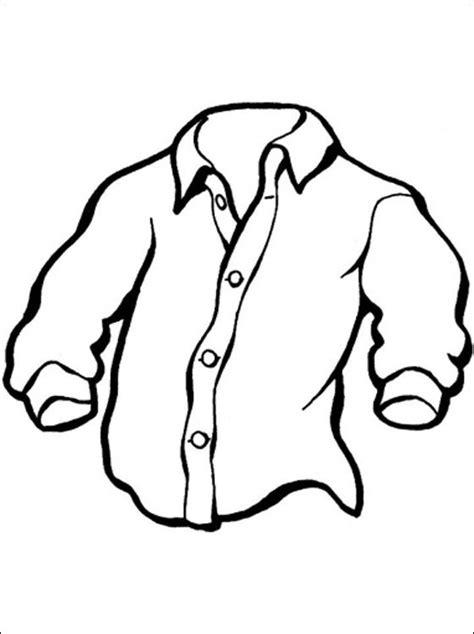 Kleurplaat Shirt by Print Een Kleurplaat Overhemd Gratis Kleurplaten