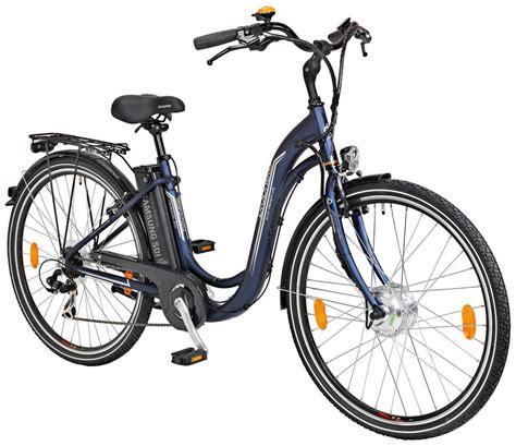 26 zoll e bike prophete e bike city damen 187 navigator 300 171 26 28 zoll 7 frontmotor 240 wh kaufen
