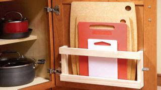 store cutting boards   cabinets   magazine rack