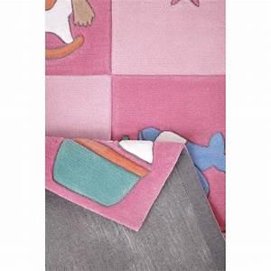 tapis nouveau ne rose en acrylique pour chambre bebe fille With tapis rose chambre bebe