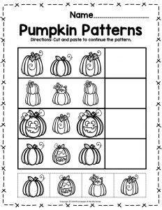 printable pumpkin worksheets  preschoolers