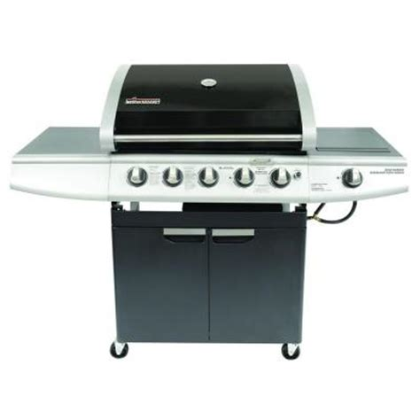 5 burner propane gas grill with sear burner and smoker drawer