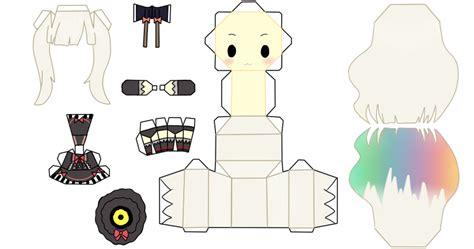 mayu papercraft  fluffyandpuff hatsune miku paper