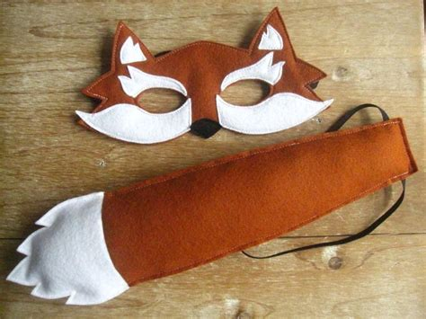 Felt Fox Mask And Tail Set. Fantastic Mr. And Mrs. Fox