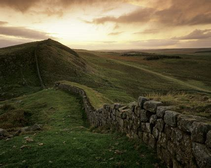 hadrians wall dark  mysterious   pink tinged