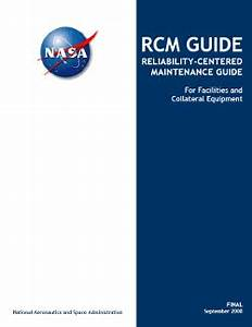 Personnel Planners Nasa Reliability Centered Maintenance Guide Rcm Guide