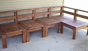 More like home 2x4 outdoor sectional for Homemade 2x4 furniture