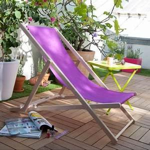 Chilienne En Bois : chilienne en bois et toile couleur violet castorama ~ Teatrodelosmanantiales.com Idées de Décoration