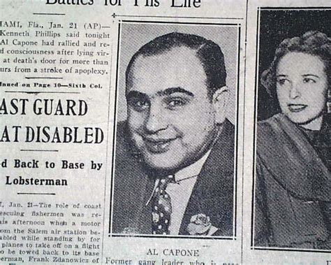 Al Capone Near Death In 1947...