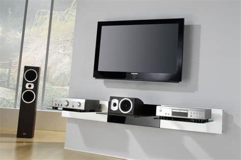 tablette murale pour tv accrocher 233 cran au mur c est bien mais que faire de lecteur dvd de li audio