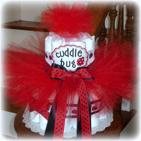 Ladybug Diaper Cake Baby Shower Centerpiece Decorations