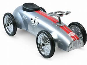 Voiture Enfant Vintage : vilac porteur voiture de course argent ~ Teatrodelosmanantiales.com Idées de Décoration