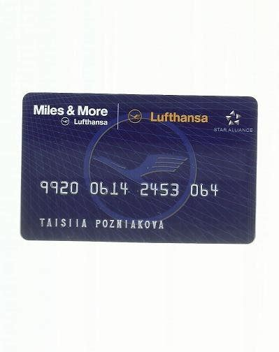 lufthansa airlines miles   frequent flier club card