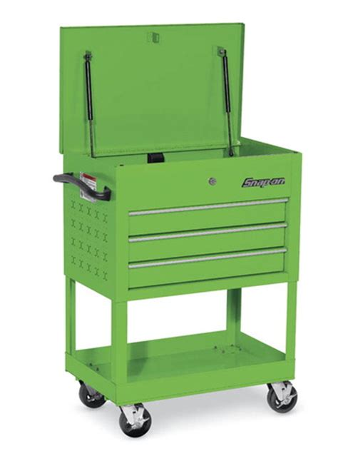 swivel casters roll cart 3 drawers green