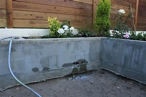 Comment Remplir Une Grande Jardinière : soucis d 39 tanch it a l int rieur d une jardini re b ton ~ Melissatoandfro.com Idées de Décoration
