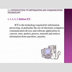 Chapter 1introduction To Ict