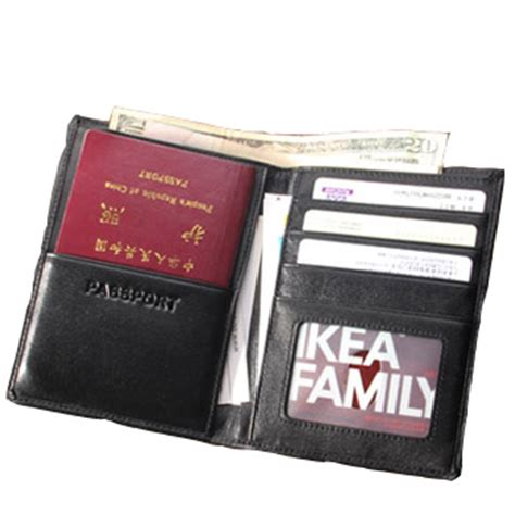 passport holder designer 2015 new genuine leather wallet passport cover black