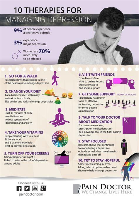 depression infographic  therapies  managing