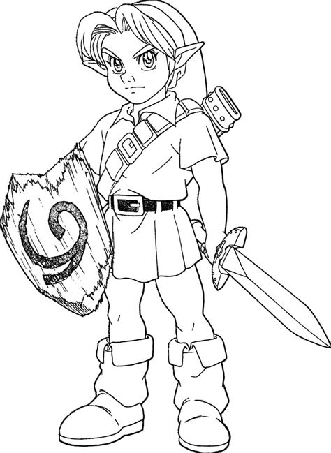 legends  zelda dark link coloring page coloring pages