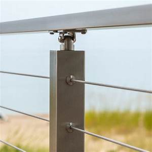 Cable Railing Posts  Stainless Steel  U0026 Powder Coated Posts