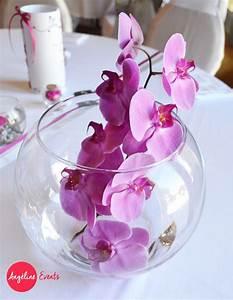 Centre De Table Mariage : mariage centre de table vase boule orchid e rose fushia ~ Melissatoandfro.com Idées de Décoration
