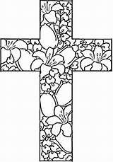 Coloring Pages Easter Printable Cross Bible Colouring Religious Crosses Mandala Printables Books Iamthatlady Activity sketch template