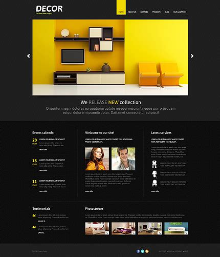 Black Responsive Joomla Template by Black Home Decor Joomla Template By Di Home Decor