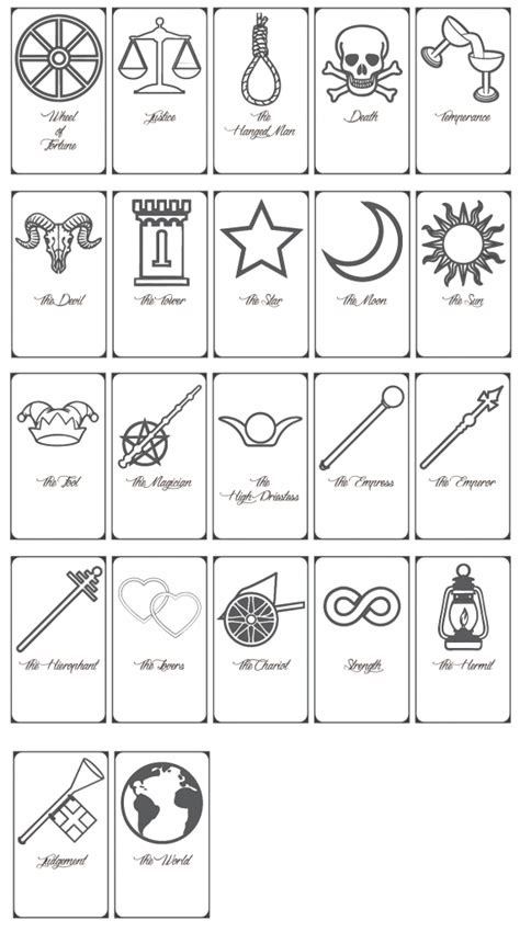 printable tarot cards  printable cards