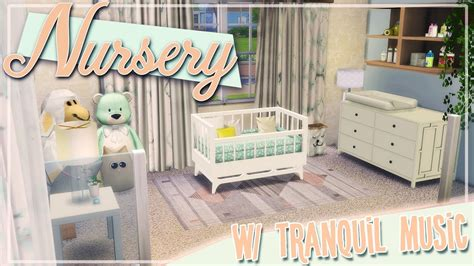 Nursey With Tranquil Music  Sims Studio Baby And Crib